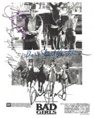 "1994 Movie ""BAD GIRLS"" Signed by MADELINE STOWE as CODY, MARY STUART MASTERSON as ANITA, ANDIE MACDOWELL as EILEEN, and DREW BARRYMORE as LILLY - Signed 8x10 B/W Photo"