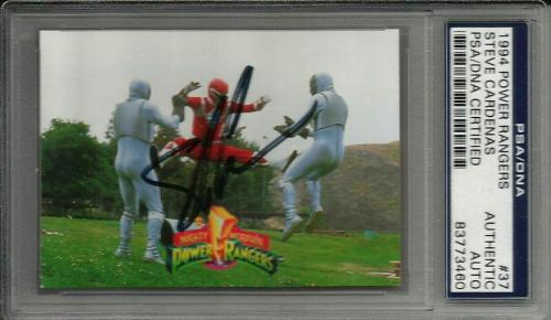 1994 Power Rangers Steve Cardenas Red Ranger #37 Signed Auto Card PSA/DNA