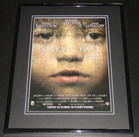 1994 Silent Fall 11x14 Framed ORIGINAL Vintage Advertisement Richard Dreyfuss