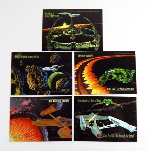 1994 Skybox Star Trek Master Series Spectra Chase Set (S1-S5) Near Mint