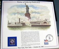 1994 Statue of Liberty Dedicated United States Postal System Commemorative Stamp Sheet