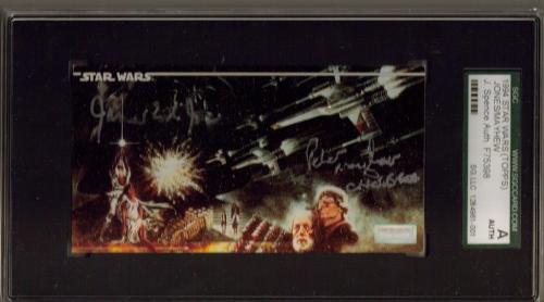 1994 Topps Star Wars Peter Mayhew Chewbacca James Earl Jones Vader Sgc Jsa Auto