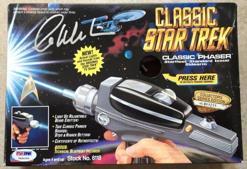 1994 William Shatner Signed Star Trek Playmates Classic Phaser PSA/DNA COA