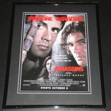 1995 Assassins 11x14 Framed ORIGINAL Vintage Advertisement Sylvester Stallone