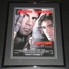 1995 Assassins 11x14 Framed ORIGINAL Vintage Advertisement Sylvester Stallone