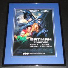 1995 Batman Forever 11x14 Framed ORIGINAL Advertisement Val Kilmer Nicole Kidman