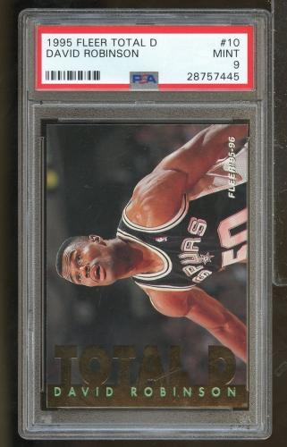 1995 Fleer Total D #10 DAVID ROBINSON San Antonio Spurs PSA 9 (SC9-445)