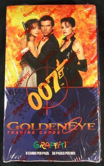 1995 Grafitti James Bond Golden Eye Trading Card Box (36 Packs)
