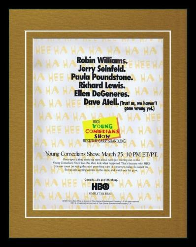1995 HBO Young Comedians Show 11x14 Framed ORIGINAL Advertisement Jerry Seinfeld