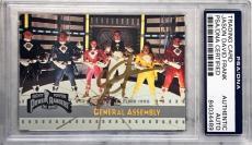 1995 Jason David Frank Green Power Ranger Signed Trading Card #142 PSA/DNA SLAB
