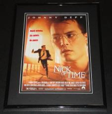 1995 Nick of Time 11x14 Framed ORIGINAL Vintage Advertisement Johnny Depp