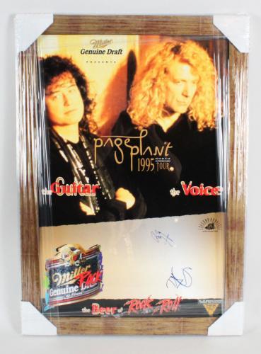 Robert Plant & Jimmy Page Signed Poster – COA JSA