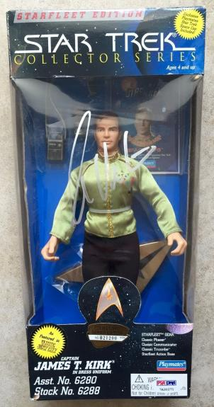 1995 William Shatner Signed Star Trek Captain Kirk Collectors Figure PSA/DNA COA