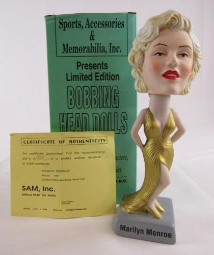 1996 SAM Inc Marilyn Monroe Bobble Bobbing Head #550/5000