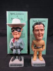 1996 SAM Inc The Lone Ranger & Tonto Bobble Bobbing Head Set