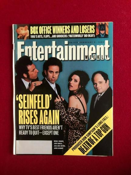 "1996, SEINFELD, ""Entertainment Weekly"" Magazine (No Label) Scarce / Vintage"