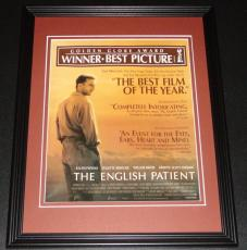 1996 The English Patient Framed ORIGINAL Vintage Advertisement Poster R Fiennes