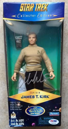 1996 William Shatner Signed Star Trek Captain Kirk Collectors Figure PSA/DNA COA