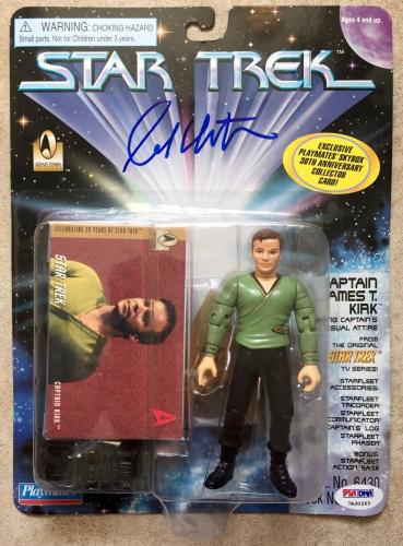 1996 William Shatner Signed Star Trek Playmates Captain Kirk Figure PSA/DNA COA