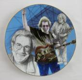 "1997 Gartlan Jerry Garcia Black And White Study With A Touch Of Grey 8"" Plate"