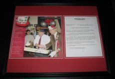 1997 John Glenn & Carl Levin Michigan Ohio State Bet Framed 16x20 Photo Display
