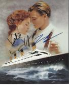 "1997 Movie ""TITANTIC"" Signed by LEONARDO DICAPRIO as JACK DAWSON and KATE WINSLET as ROSE DEWITT BUKATER 8x10 Color Photo"