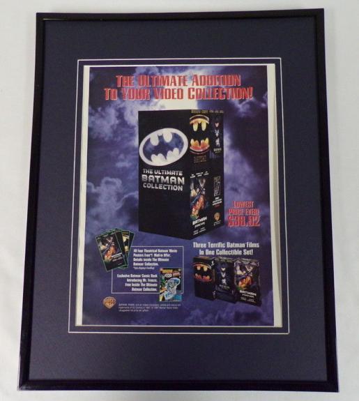 1997 Ultimate Batman Collection Framed 11x14 ORIGINAL Advertisement