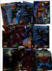 1997 Wizard Chromium Series (16) Card Lot! Spiderman Spawn Iron Man Superman+