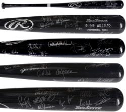 1998 New York Yankees Team Signed Bat - Limited Edition 36/98 (26 Signatures)