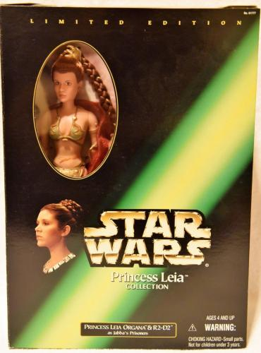 "1998 Star Wars PRINCESS LEIA ORGANA & R2-D2 as Jabba's Prisoners 12"" Unopened"