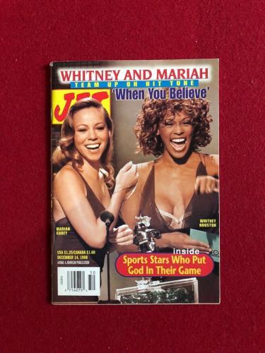 "1998, Whitney Houston / Mariah Carey, ""JET"" Magazine (No Label) Scarce"