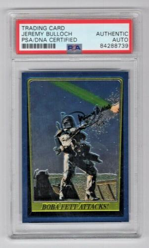 1999 Topps Chrome Star Wars Jeremy Bulloch Boba Fett Signed Auto Card PSA/DNA