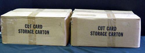 (2) 1983 Topps Jaws 3-D Bulk Vending Cases Sheet A & B 17,300 Cards = 390+ Sets