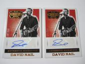 (2) 2014 Panini Country Music DAVID NAIL Autographed Insert Card #S-DN /344