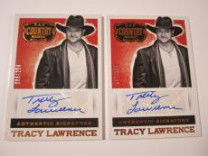 (2) 2014 PANINI COUNTRY MUSIC No.S-TL TRACY LAWRENCE AUTOGRAPH CARD #'d /254 LOT