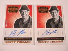 (2) 2014 Panini Country Music Scott Thomas Autograph Trading Card #'d /394 LOT