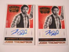(2) 2014 Panini Country Music Signatures Red #SJT Josh Thompson #'d 26/338