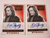 (2) 2014 Panini Country Music WYNONNA Autographed Card #'d /199 THE JUDDS