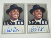 (2) 2015 Panini Americana REV RUN Rapper AUTOGRAPH Trading Card Hip Hop RUN DMC