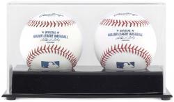 Baseball Cube 2-Ball Deluxe Display Case