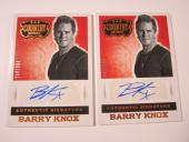 (2) Barry Knox 2014 Panini Country Music Blue Autographed Card #'d /394 Parmalee