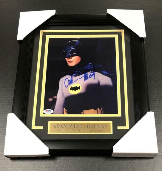 #2 Batman Adam West Signed Authentic Autographed 8x10 Photo Framed Psa Coa