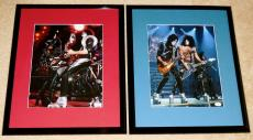 (2) Kiss Signed 11x14 Framed Photos (jsa) - Gene Simmons, Paul Stanley, Thayer!
