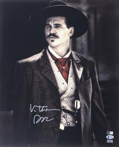 """Val Kilmer Tombstone """"Doc"""" Signed 16x20 Photo BAS Witnessed #K14047"""