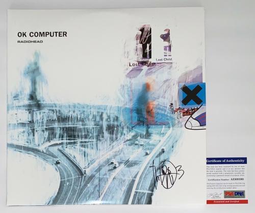 Thom Yorke Signed Radiohead Ok Computer Record Album Psa Coa Ae69590