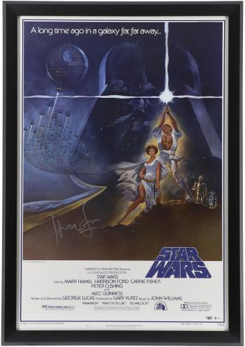Harrison Ford Star Wars Framed Autographed Movie Poster - BAS