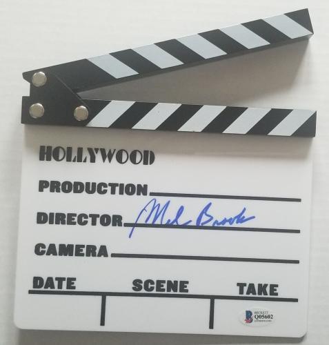 MEL BROOKS Signed Hollywood Directors Board Clapper BAS COA AUTO