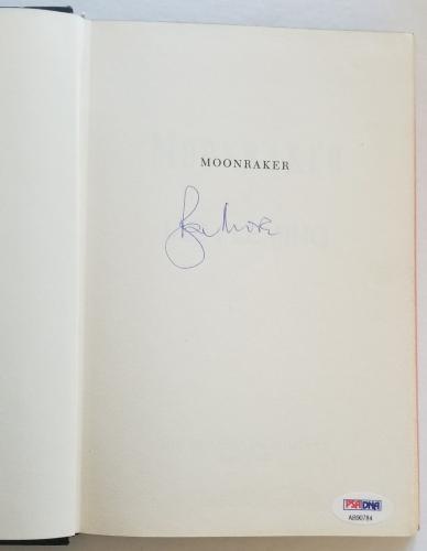 ROGER MOORE Signed JAMES BOND MOONRAKER Fleming Book PSA/DNA COA AUTOGRAPH 0784