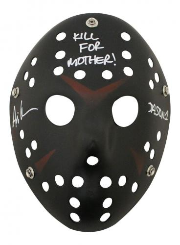 Ari Lehman Autographed Friday The 13th Black Mask Kill For Mother JSA 26205