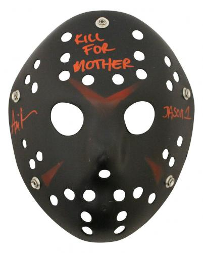 Ari Lehman Autographed Friday The 13th Black Mask Kill For Mother JSA 26208